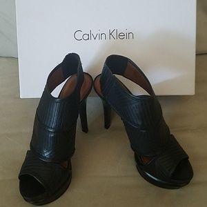 Calvin Klein black stelleto heels